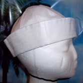 RTD-1013 - Large White Sailor Hat for Adults or Children