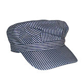RTD-1349 - Adult Deluxe Train Engineer Hat w/Touch Fastener Strap