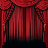 RTD-2822 - Stage Red Curtain Backdrop Banner 6ft x 6ft