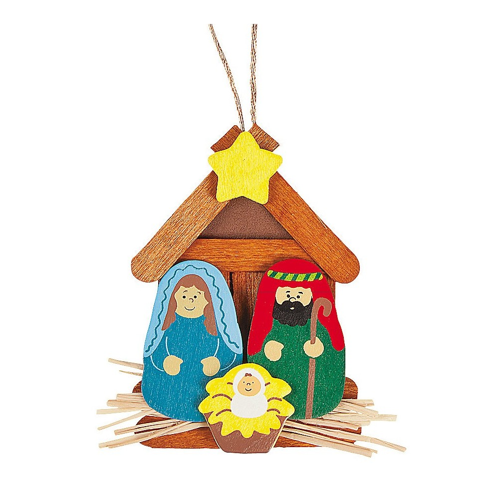 Wooden Nativity Christmas Ornament Craft Kit