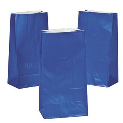 Royal Blue Paper Treat Bags