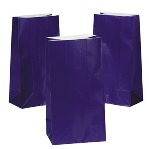 Purple Paper Treat Bags