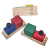 RTD-1144 - Train Whistle Wooden Train-Shaped Party Noisemaker