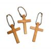 RTD-1293 - Wooden Cross Key Chain
