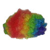RTD-1299 - Circus Clown Rainbow Hair Wig