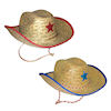 RTD-1307 - Childs Quality Straw Cowboy Hat w/ Star