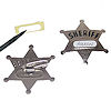 RTD-1308 - Metal Sheriff Star Name Tag Badge