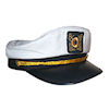 RTD-1382 - Deluxe Youth White Yacht Navy Captains Sailor Hat - Adjustable