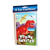 RTD-1496 - 8 pack Dinosaur Birthday Party Invitations