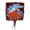 RTD-1514 - 21 inch Square Happy Birthday Dinosaur Mylar Balloon