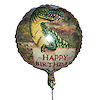 RTD-1517 - 18 inch Happy Birthday T-rex Dinosaur Mylar Balloon