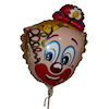 RTD-1544 - 30 inch Clown with Derby - Mylar Party Balloon