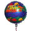 RTD-1593 - 18 inch Happy Birthday w/Dinosaurs Mylar Balloon