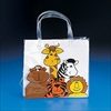 RTD-2064 - Clear Vinyl Zoo Animal Party Small Tote Bags