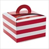 RTD-2310 - Red and White Striped Cupcake Treat Boxes