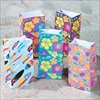 RTD-2311 - 36-pack Assorted Tropical Print Paper Treat Bags