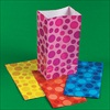 RTD-2327 - Assorted Color Polka-Dot Paper Treat Bags