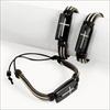 RTD-2359 - Leather Bracelet with Stone Cross Charm