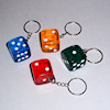 RTD-2379 - Big Colorful Plastic Dice with Metal Key Chain