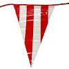RTD-2485 - 100 ft Banner of 48 Red and White Striped Pennants