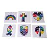 RTD-2495 - 36-pack Christian Colors of Faith Temporary Tattoos