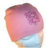 RTD-2499 - Christian Cross Pink Knit Cap for Girls
