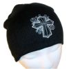 RTD-2500 - Christian Cross Black Knit Cap for Boys