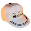RTD-2509 - Train Cap for Toddlers - White - Medium