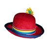 RTD-2519 - Mini Circus Clown Bowler Derby Hat with Flower