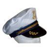 RTD-2524 - Adult Elite Yacht Captains Hat - White