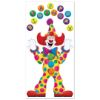 RTD-2536 - Birthday Circus Clown Party Door Banner