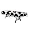 RTD-2543 - 9 foot Western Cow Spots Print Farm Party Table Cover
