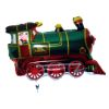 RTD-2551 - 30 inch Green Train Engine Mylar Foil Party Balloon