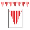 RTD-2596 - Red White Striped 12 ft Pennant Banner