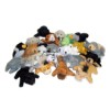 RTD-2611 - Plush Mini Bean Bag Zoo Animal
