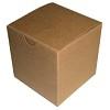 RTD-2629 - Kraft 4x4x4 Plain Gift Box