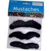 RTD-2650 - 3pc Set of Adhesive Hairy Mustaches