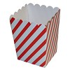 RTD-2668 - Mini Red White Striped Popcorn Box