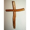 RTD-2697 - 12 inch Handcrafted Pecan Wood Wall Cross