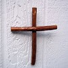 RTD-2700 - 10.5 inch Handcrafted Pecan Wood Wall Cross