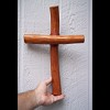 RTD-2717 - Large Handcrafted Pecan Wood Wall Cross
