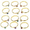 RTD-3547 - 36-pack of Metal Adjustable Birthstone Rings