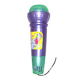 RTD-1007 - X-Large ECHO MIC - Purple / Green Plastic Microphone