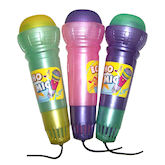 RTD-1025 - 3-Piece Set of Large Echo Microphone Party Favors Assorted Colors
