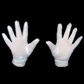 RTD-1303 - Pair of White Costume Gloves For Adults Teens Tweens