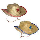 RTD-1307 - Childs Quality Straw Cowboy Hat w/ Star