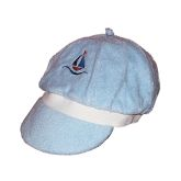 RTD-1327 - Blue Terry Cloth Baby Sailboat Sailor Hat
