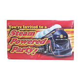 RTD-1370 - 8 pack Train Party Steam Engine Invitations