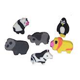RTD-1389 - 144 Pack Mini Zoo Animal Erasers