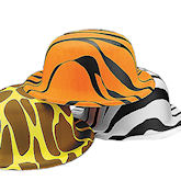 RTD-1393 - Plastic Zoo Animal Print Derby Party Hats